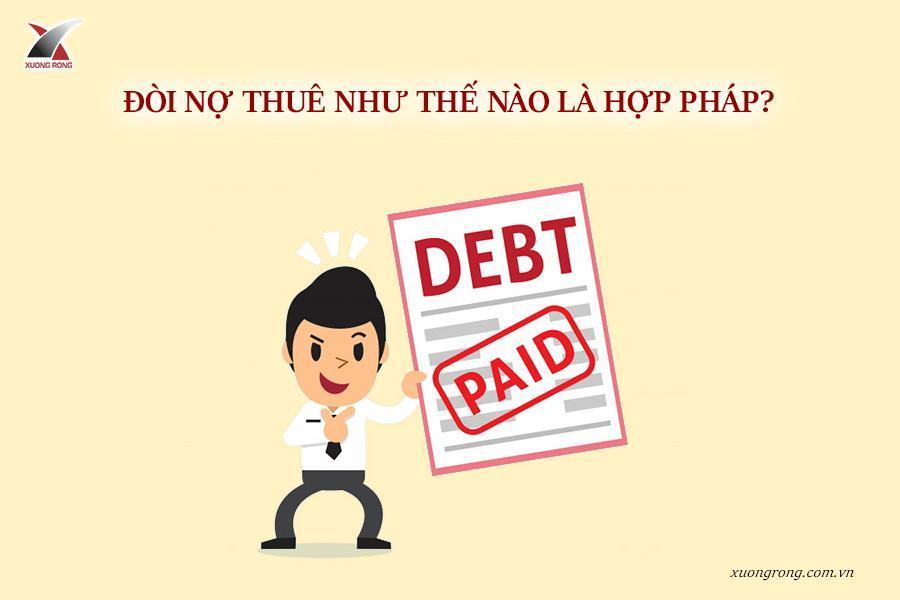 đòi nợ thuê như thế nào là hợp pháp